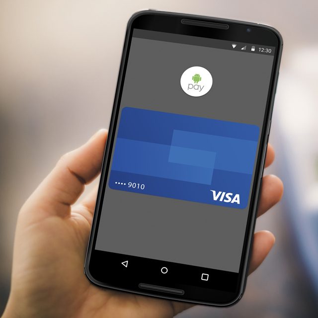 android pay running on smart phone